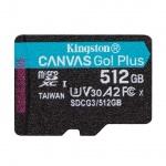 512GB microSDXC Kingston Canvas Go! Plus A2 U3 V30 170MB/s bez adapteru, SDCG3/512GBSP