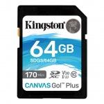 64GB SDXC Kingston U3 V30 170/70MB/s, SDG3/64GB