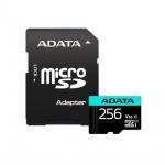 ADATA MicroSDXC 256GB U3 V30S až 95MB/s + adapter, AUSDX256GUI3V30SA2-RA1