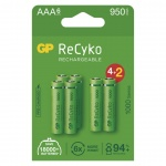 Gp Baterie GP nabíjecí baterie ReCyko 1000 AAA (HR03) 4+2PP, 1032126100