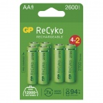 Gp Baterie GP nabíjecí baterie ReCyko 2700 AA (HR6) 4+2PP, 1032226270
