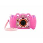 """Natec Digitální fotoaparát pro děti Ugo Froggy, růžový, 1,3mpx, video Full HD 1080 px, 2"""" LCD displej, UKC-1554"""