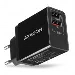 AXAGON ACU-QS24, QUICK a SMART nabíječka do sítě, 2x USB port QC3.0/AFC/FCP + 5V-1.2A, 24W, ACU-QS24 - neoriginální