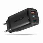 AXAGON ACU-DPQ65, GaN nabíječka do sítě 65W, 3x port (USB + dual USB-C), PD3.0/QC4+/PPS/Apple, ACU-DPQ65 - neoriginální