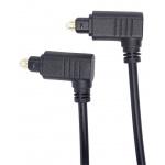 PremiumCord Kabel Toslink 90° - Toslink 90°, tloušťka kabelu:4.0mm, délka 1m, kjtos4-1