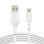 BELKIN kabel USB-A - microUSB, 1m, bílý, CAB005bt1MWH
