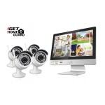 """iGET HGNVK49004 - CCTV bezdrátový WiFi set HD 960p s LCD displejem 12"""", 4CH NVR + 4x IP kamera 960p, HGNVK49004"""