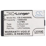 Baterie pro Caterpillar CAT B25 (ekv.UP073450AL) 1450mAh, Li-ion, CS-CAB250SL