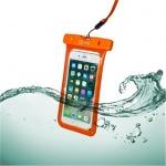 """Voděodolné pouzdro CELLY Splash Bag 6,2"""", oranžové, SPLASHBAG18OR"""