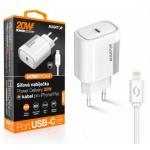 Aligator POWER DELIVERY 20W, USB-C, bílá, USB-C kabel pro iPhone/iPad, CHPD0002 - neoriginální