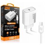 Aligator POWER DELIVERY 20W, USB-C, bílá, USB-C/USB-C kabel, CHPD0003 - neoriginální