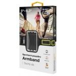 Sportovní pouzdro ALIGATOR Armband černo-žluté, PF0003