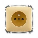 Abb Tango zásuvka 1-násobná s clonkami bezšroubová béž, 5519A-A02357 D