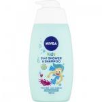 Nivea Kids Boy 2v1 sprchový gel a šampon, 500 ml