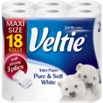 Veltie Delicately White 3vrstvý toaletní papír, 18 rolí