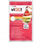 viGO uzavíratelné sáčky 19 × 22 cm, 50 ks