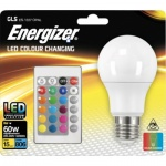 Energizer RGB LED žárovka 9,2 W, E27, vícebarevná + ovladač, jako 60 W