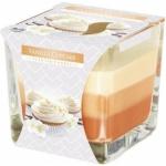 Aura Vanilkový košíček tříbarevná vonná svíčka, 170 g