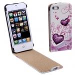 SCcom pouzdro vertikální na iPhone 5 srdce 00005